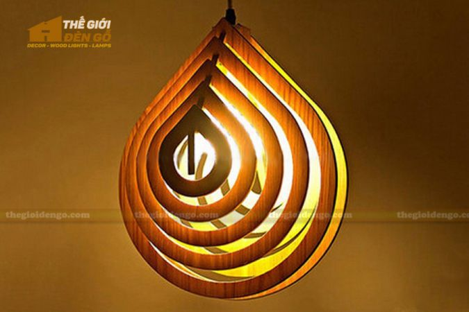 Thế giới đèn gỗ - Đèn gỗ trang trí giọt nước