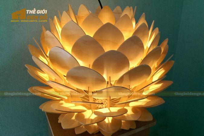 Thế Giới Đèn Gỗ - Đèn gỗ trang trí hoa cúc bất tử 1