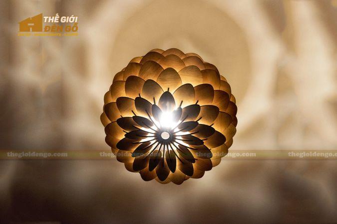 Thế Giới Đèn Gỗ - Đèn gỗ trang trí hoa cúc bất tử 2