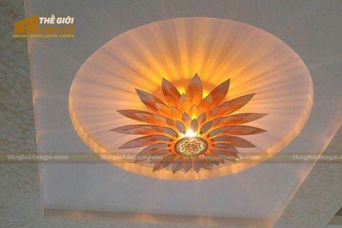 Thế giới đèn gỗ - Đèn gỗ trang trí hoa hướng dương 10