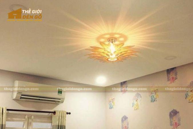 Thế giới đèn gỗ - Đèn gỗ trang trí hoa hướng dương 12
