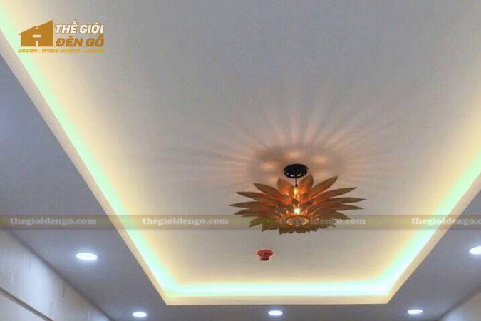 Thế giới đèn gỗ - Đèn gỗ trang trí hoa hướng dương 6