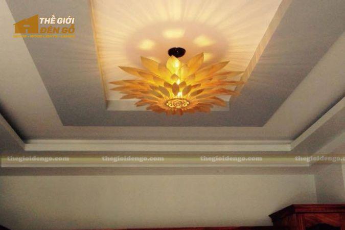 Thế giới đèn gỗ - Đèn gỗ trang trí hoa hướng dương 7