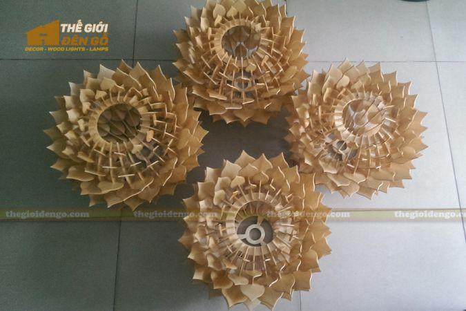 Thế Giới Đèn Gỗ - Đèn gỗ trang trí hoa thược dược 6