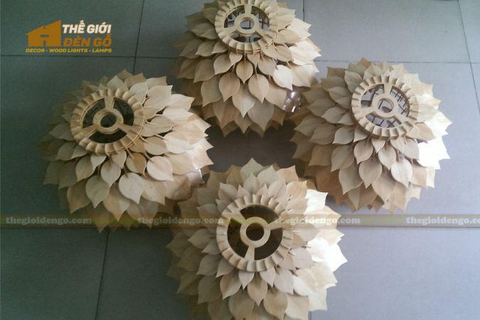 Thế Giới Đèn Gỗ - Đèn gỗ trang trí hoa thược dược 10