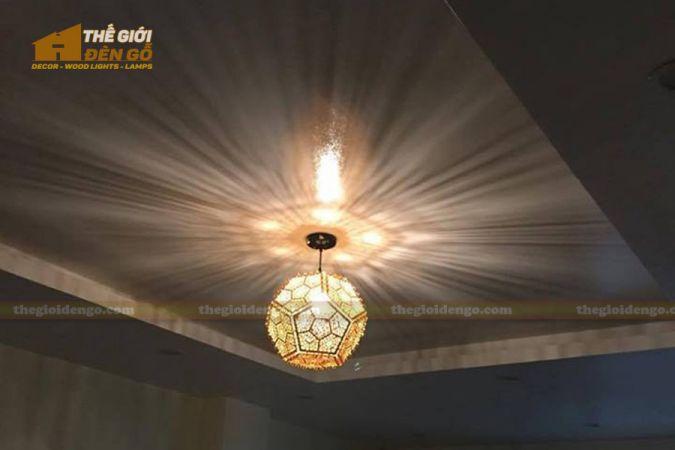 Thế giới đèn gỗ - Đèn gỗ trang trí lục giác khối - 3