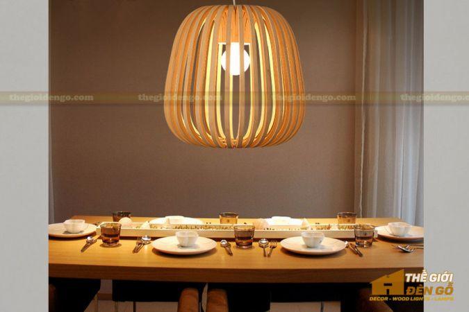 Thế giới đèn gỗ - Đèn gỗ trang trí mận rừng 2-1
