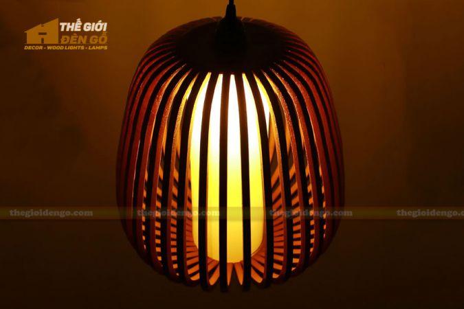 Thế Giới Đèn Gỗ - Đèn gỗ trang trí mận rừng.