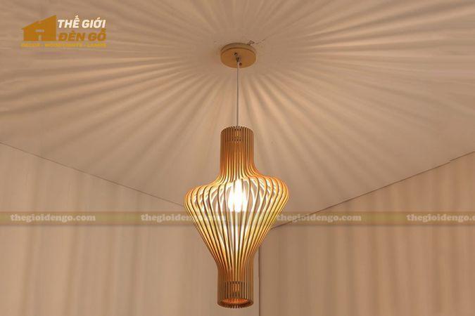 Thế Giới Đèn Gỗ - Đèn gỗ trang trí ống khói