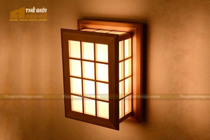 Thế giới đèn gỗ - Đèn gỗ trang trí treo tường DGW004