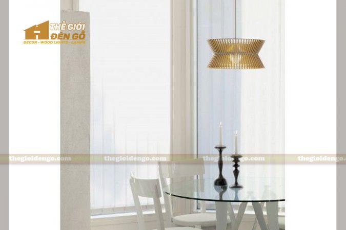 Thế giới đèn gỗ - Đèn gỗ trang trí trống đồng 3