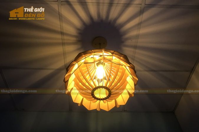 Thế Giới Đèn Gỗ - Đèn gỗ trang trí dg275-2