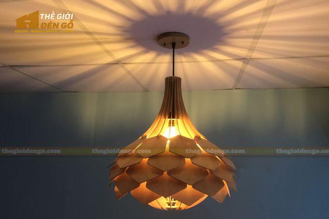 Thế Giới Đèn Gỗ - 15 mẫu đèn gỗ trang trí hot nhất đầu năm 2020 - DG275