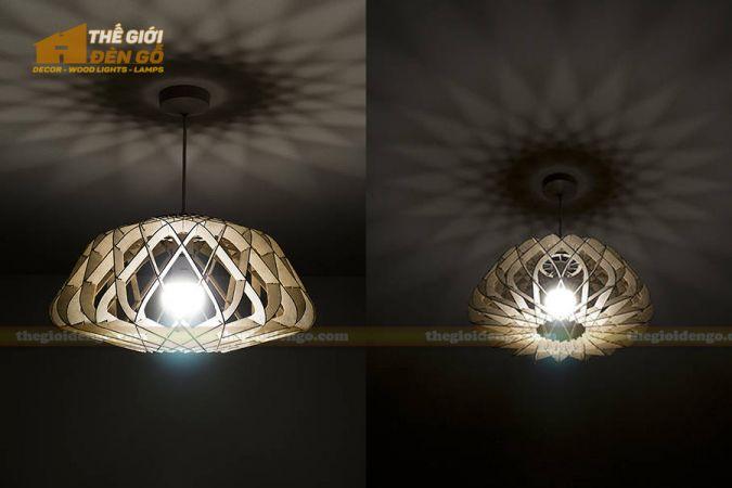Thế Giới Đèn Gỗ - Đèn gỗ trang trí DG286-3