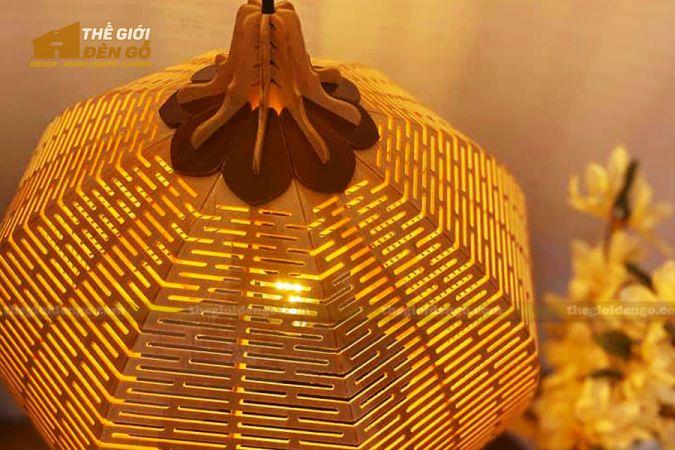 Thế Giới Đèn Gỗ - 15 mẫu đèn gỗ trang trí hot nhất đầu năm 2020 - DG297