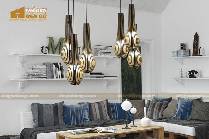 Thế Giới Đèn Gỗ - 15 mẫu đèn gỗ trang trí hot nhất đầu năm 2020 - DG298