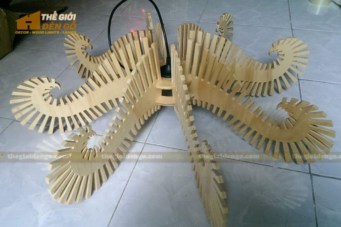 Thế Giới Đèn Gỗ - Đèn gỗ trang trí bạch tuộc - 2