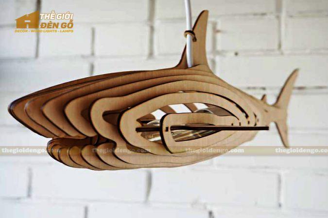 Thế Giới Đèn Gỗ - Đèn gỗ trang trí cá mập 3