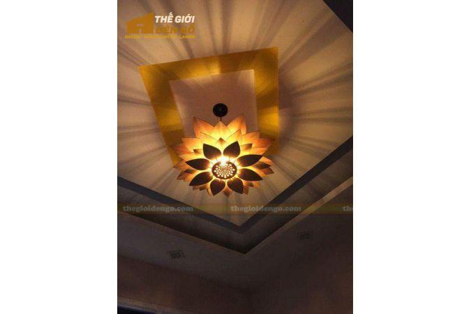 Thế giới đèn gỗ - Đèn gỗ trang trí hoa sen 14