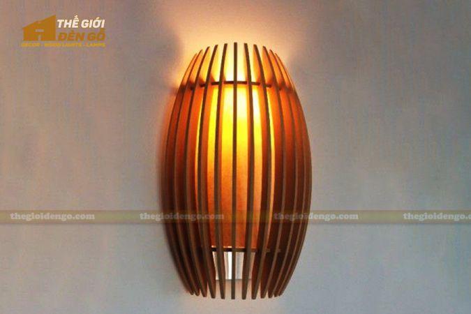 Thế giới đèn gỗ - Đèn gỗ trang trí treo tường DGW038