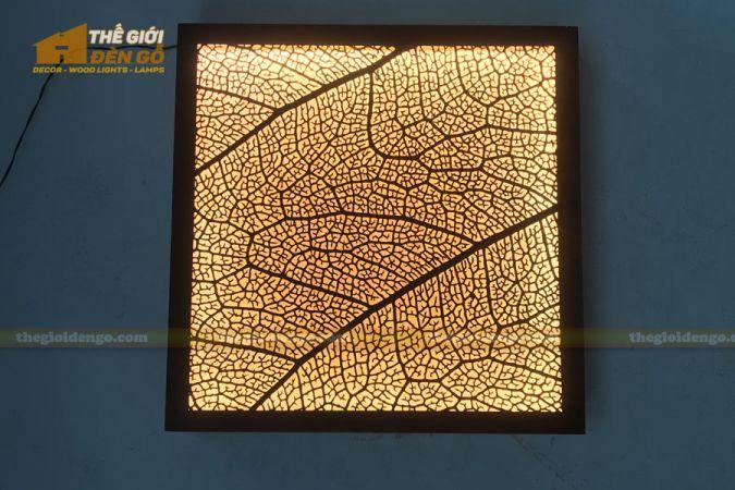 Thế Giới Đèn Gỗ - Đèn gỗ trang trí treo tường DGW041 - 1