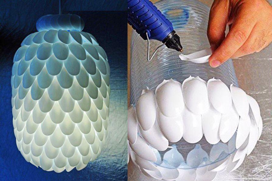 Thế Giới Đèn Gỗ - Cách làm đèn trang trí handmade bằng muỗng nhựa